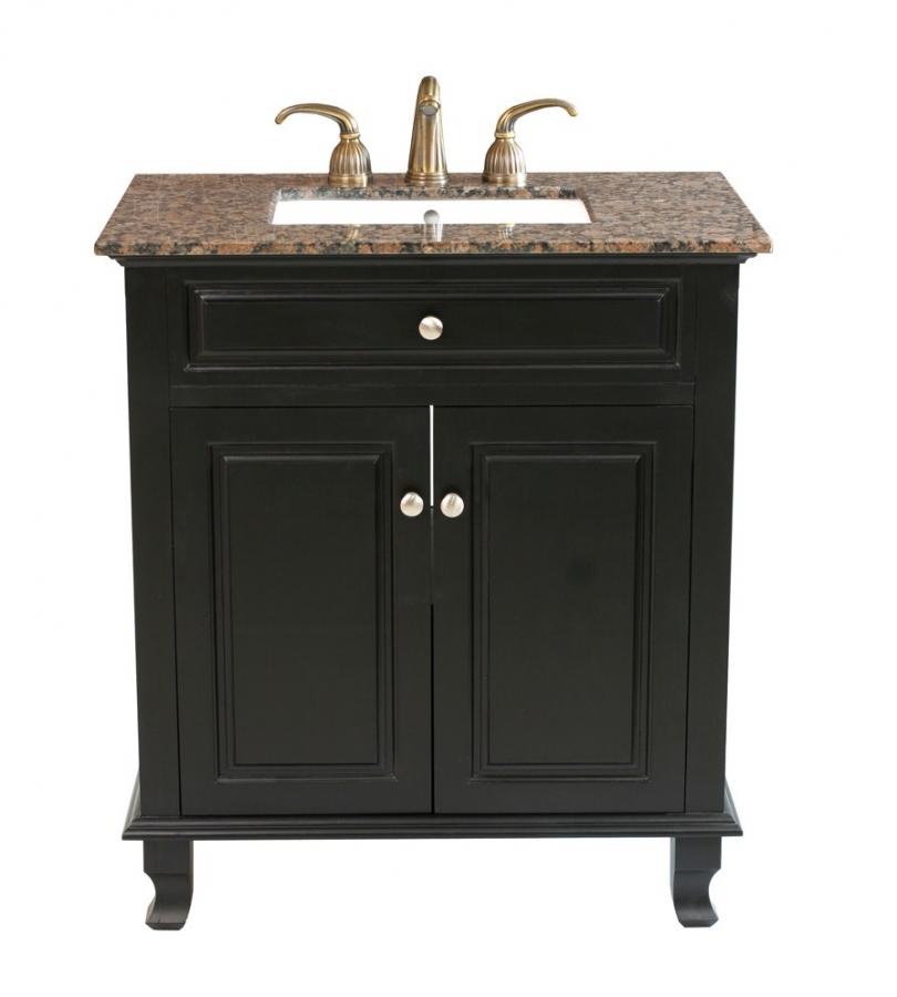 32 Inch Single Sink Bathroom Vanity in Ebony UVBH60321532BB32