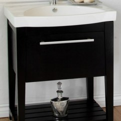 Kitchen Sinks Houzz Appliance Cabinet 27.5 Inch Single Sink Bathroom Vanity With A Black Finish ...