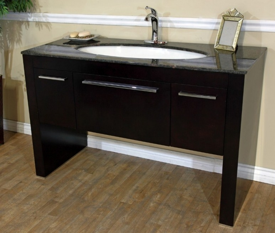 counter top kitchen table sets new sink installation 55 inch single bath vanity in walnut uvbh804380tb55