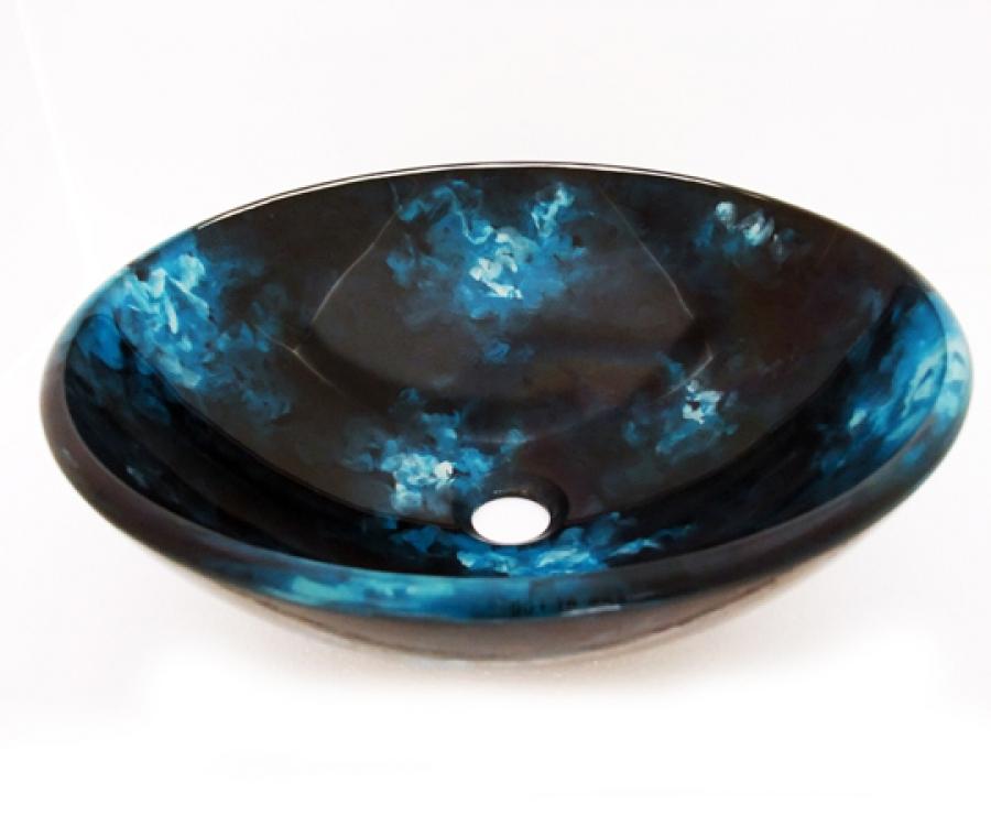 Multi Colored Round Glass Vessel Sink 160 UVLFA160