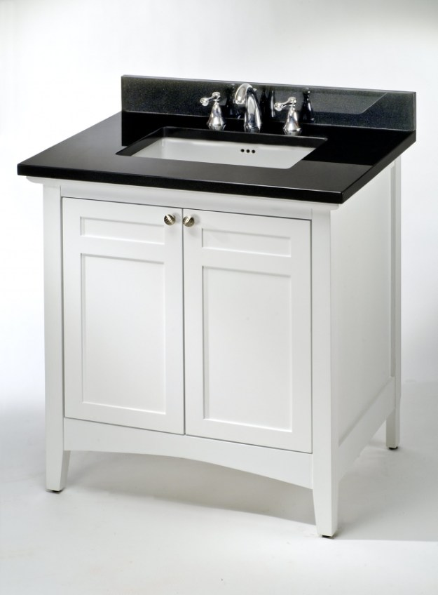 36 inch single sink shaker style bathroom vanity with choice of