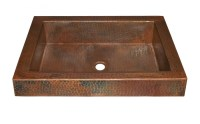 Antique Copper Raised Profile Bathroom Sink UVNTCPS246