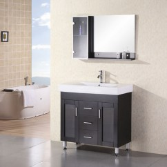 Ikea Kitchen Cabinets Reviews Joseph Knives 36 Inch Modern Single Sink Bathroom Vanity With White ...