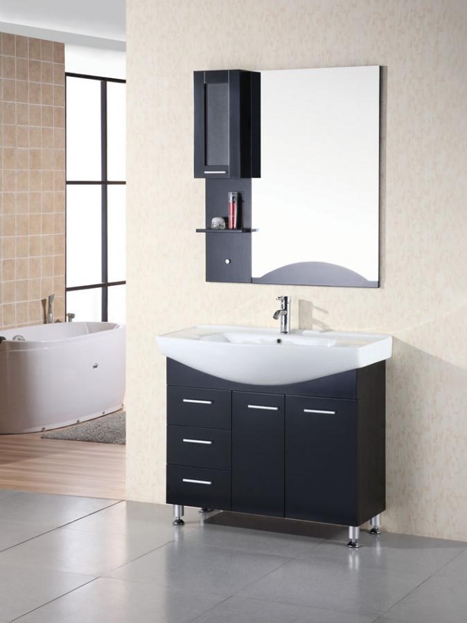 40 Inch Modern Single Sink Bathroom Vanity In Espresso