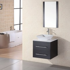 Wall Mount Kitchen Faucet Lowes Cart With Stools 24 Inch Modern Single Sink Bathroom Vanity In Espresso ...