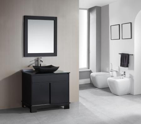 36 Inch Single Sink Bathroom Vanity with Built in LED