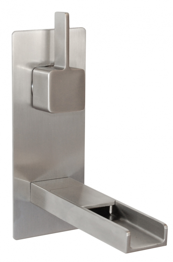 Cascada Waterfall Wall Mount Faucet in Brushed Nickel