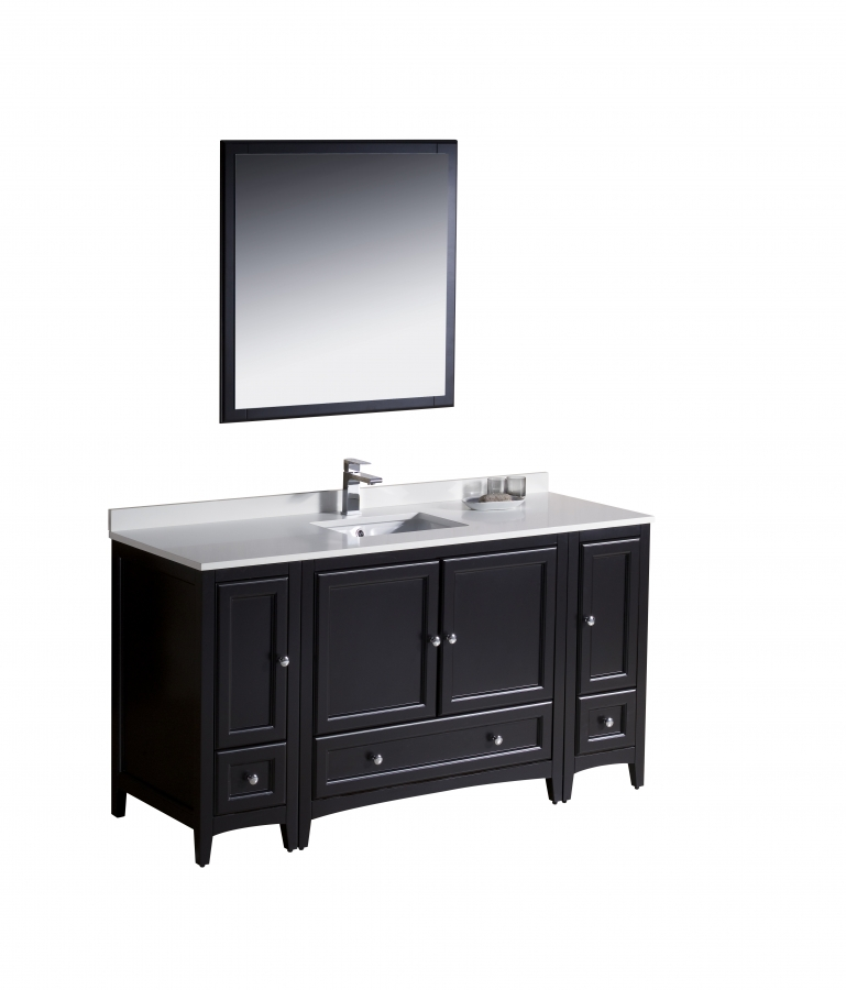 60 Inch Single Sink Bathroom Vanity in Espresso