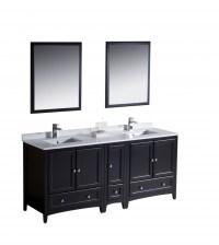 72 Inch Double Sink Bathroom Vanity in Espresso ...