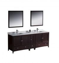 84 Inch Double Sink Bathroom Vanity in Mahogany ...
