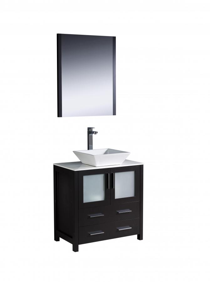 30 Inch Vessel Sink Bathroom Vanity In Espresso UVFVN6230ESVSL30