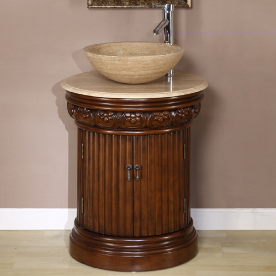 Corner Kitchen Cabinet Dimensions 24 Inch Small Pedestal Bath Vanity With Vessel Sink