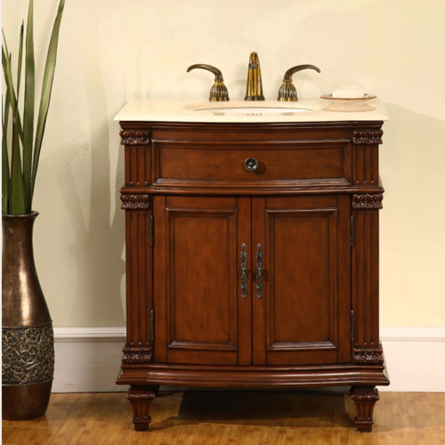 305 Inch Single Sink Bathroom Vanity with Marble Counter Top UVSR020530