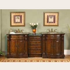 Antique Kitchen Faucet Best Design Software 84 Inch Large Double Sink Vanity With Baltic Brown Counter ...