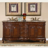 72 Inch Double Sink Bathroom Vanity with Counter Choice ...