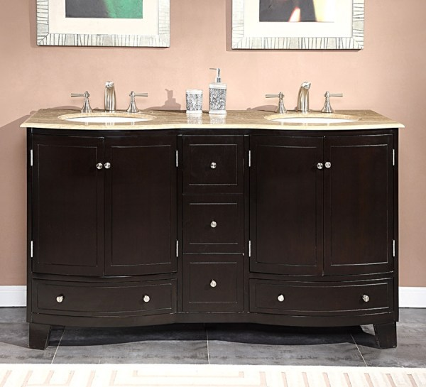 Double Sink Bathroom Vanity With Choice Of Top