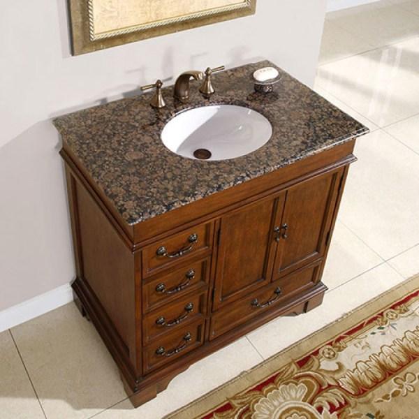 Single Sink Bathroom Vanity With Granite Counter Top Uvsr0212bb36