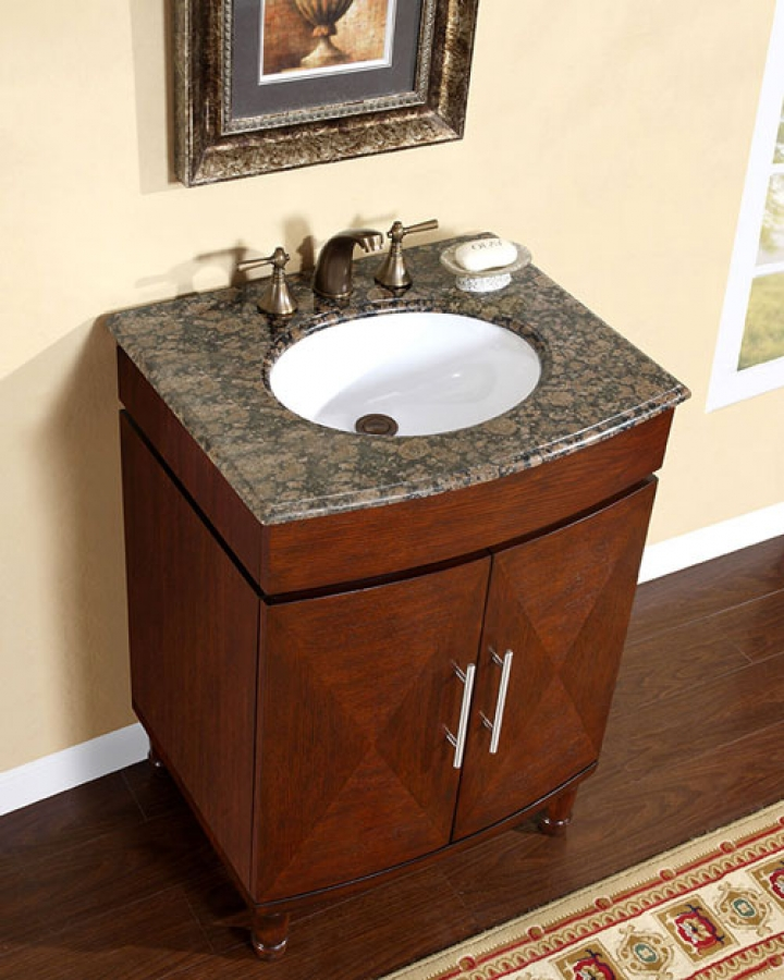three hole kitchen faucet repainting cabinets 26 inch single sink vanity with a unique pattern and ...