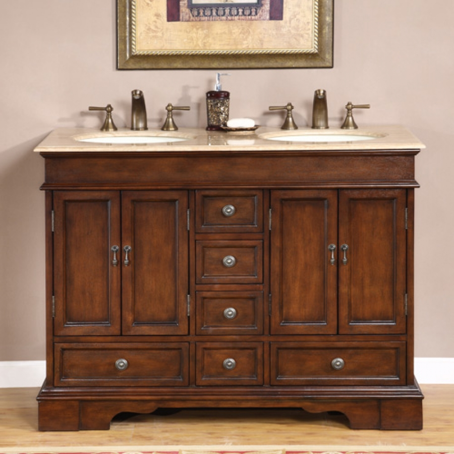 48 Bathroom Vanity Cabinet 48 Inch Antiqued Small Double Sink Vanity Custom Options