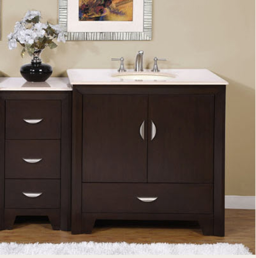 54 Inch Modern Single Bathroom Vanity with Choice of