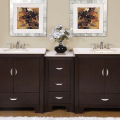 Three Hole Kitchen Faucet Designing 90 Inch Modern Double Bathroom Vanity With Choice Of ...