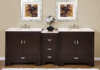 90 Inch Modern Double Bathroom Vanity with Choice of ...