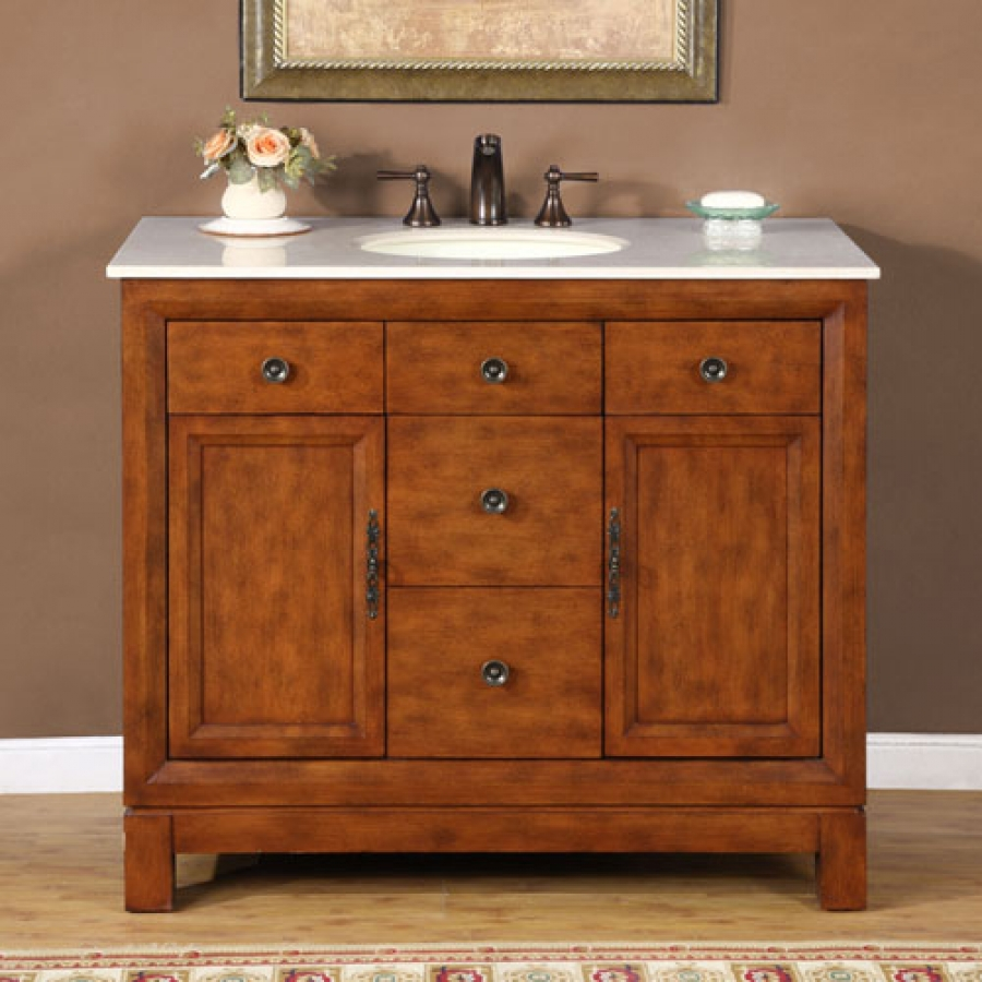 36 inch kitchen sink waverly valances 42 traditional single bathroom vanity with choice of ...