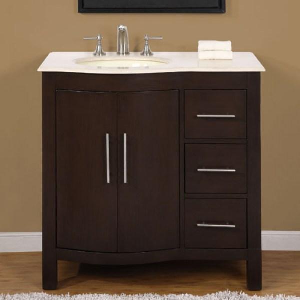 Modern Single Bathroom Vanity With Marble