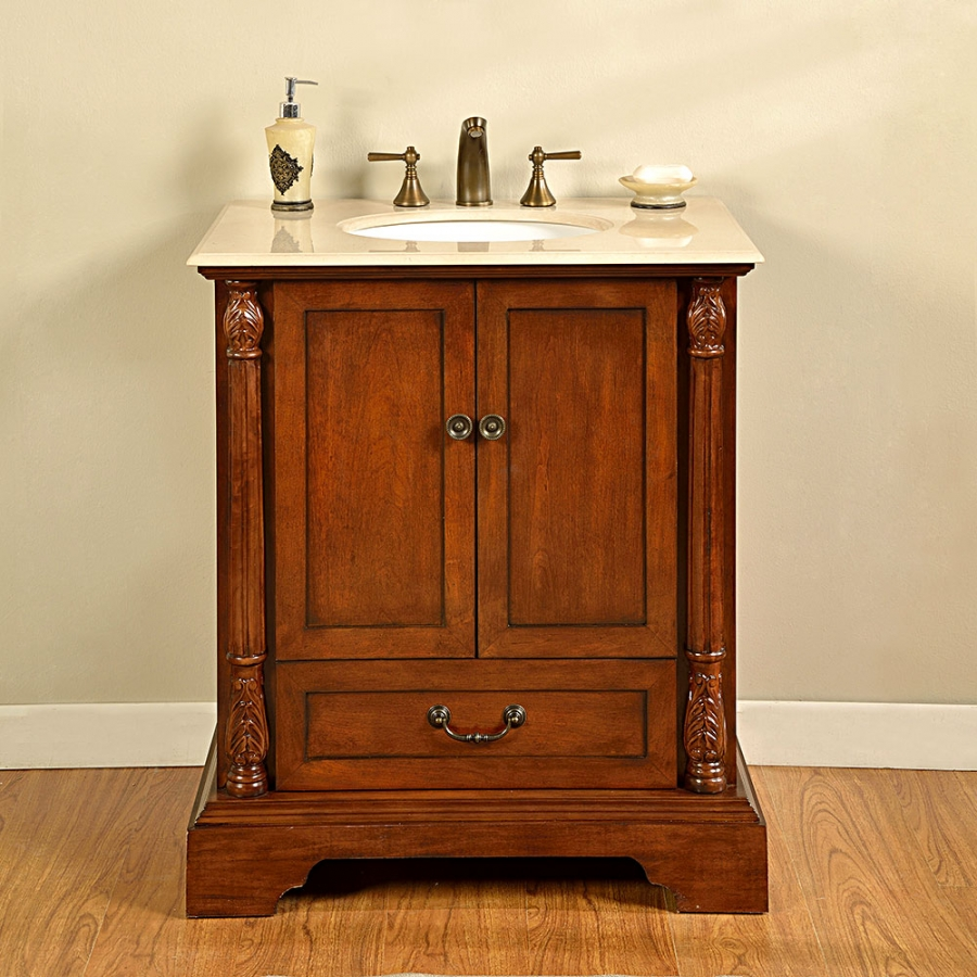 32 Inch Single Sink Bathroom Vanity in Walnut UVSR0270CM32