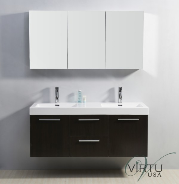 Double Sink Bathroom Vanity With Faucets Included Uvvu50154wg54