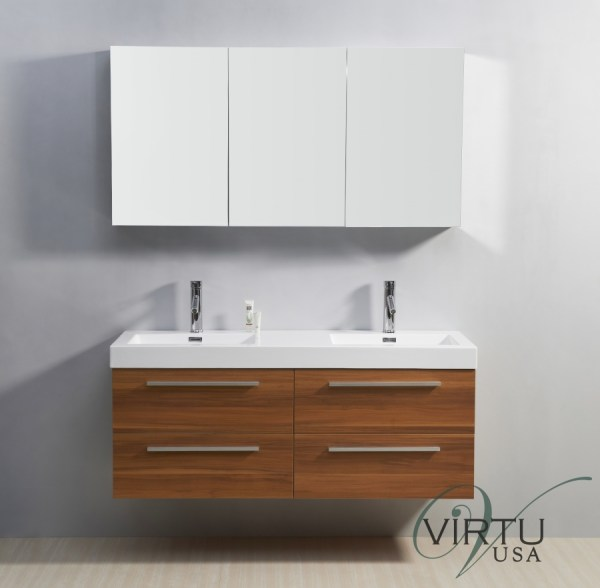 Double Sink Bathroom Vanity With Soft Closing Drawers Uvvu50754pl54