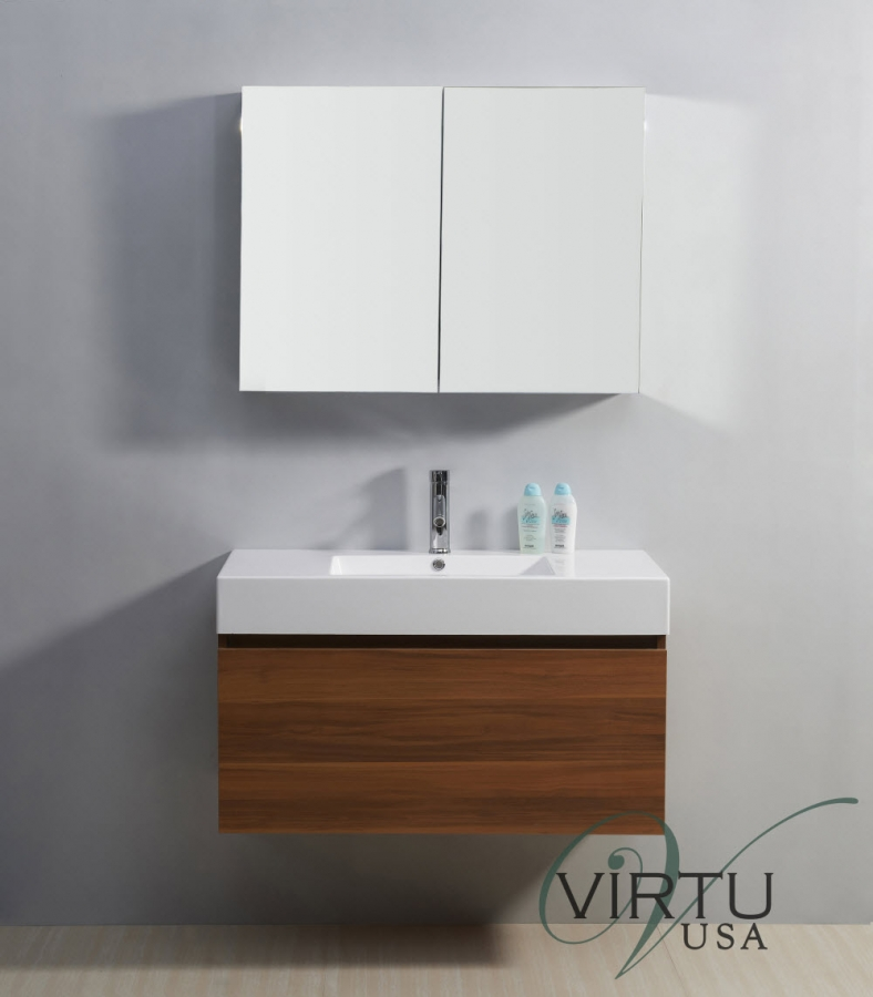 39 Inch Single Sink Bathroom Vanity with a Hidden Drawer UVVU50339PL39