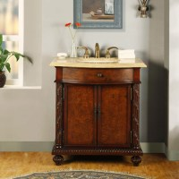 34 Inch Furniture Style Single Sink Vanity with LED ...