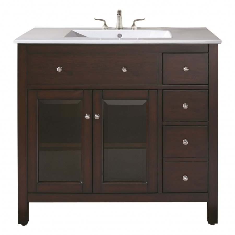 36 Inch Single Sink Bathroom Vanity with Ceramic