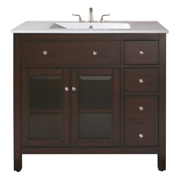 Single Sink Bathroom Vanity With Ceramic Countertop And Integrated Uvaclexingtonvs36le