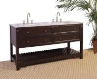 68 Inch Double Sink Bathroom Vanity with Open Shelf UVLF3968