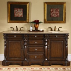 Three Hole Kitchen Faucet Counter Solutions 72 Inch Double Sink Bathroom Vanity With Travertine ...
