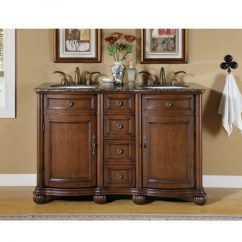Average Size Of Kitchen Sink Cabinets Jacksonville Fl 52 Inch Small Double Vanity With Baltic Brown ...