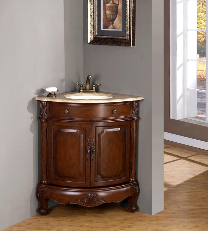 32 Inch Traditional Single Bathroom Vanity with a