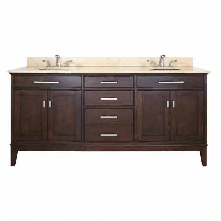 72 Inch Double Sink Bathroom Vanity with Choice of