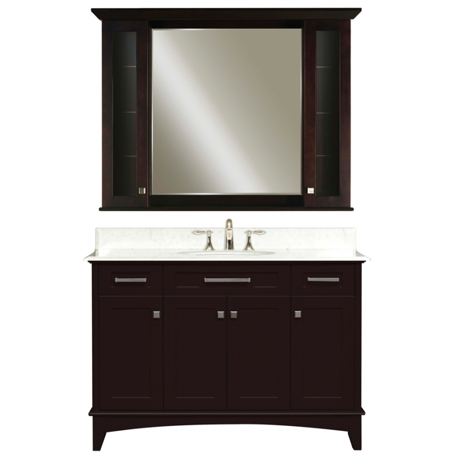 48 Inch Single Sink Vanity With A Dark Espresso Finish And
