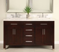 60 Inch Double Sink Modern Dark Cherry Bathroom Vanity ...