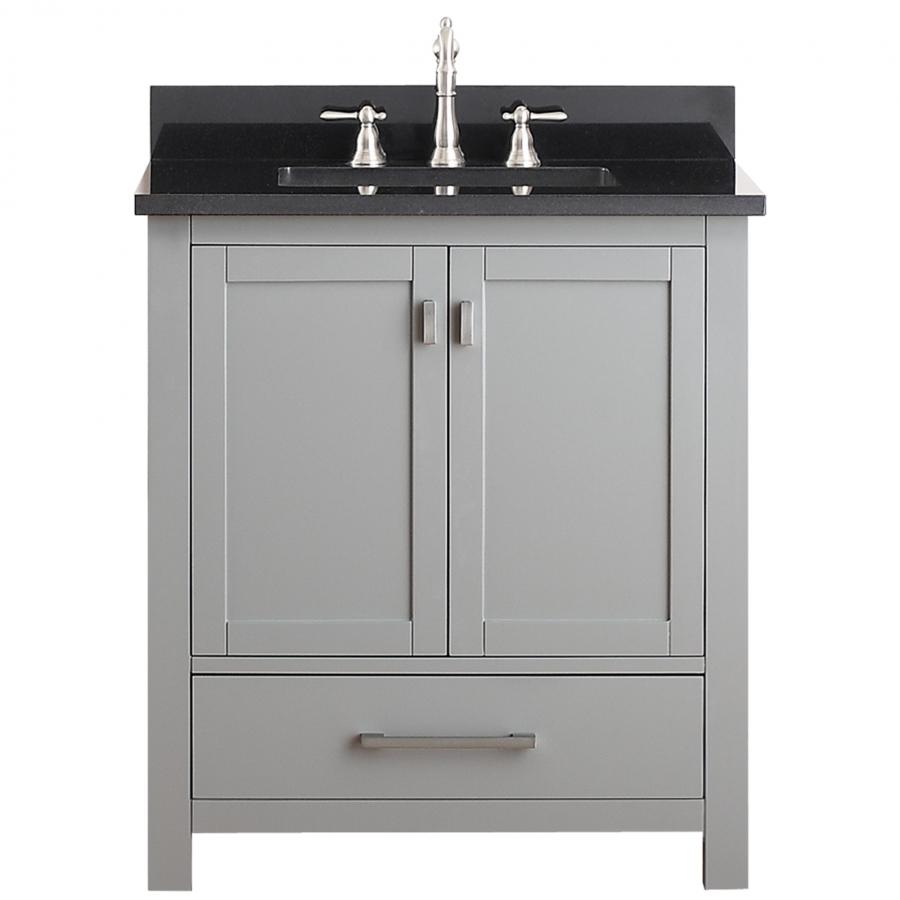 30 Inch Single Sink Bathroom Vanity In Chilled Gray UVACMODEROV30CG30