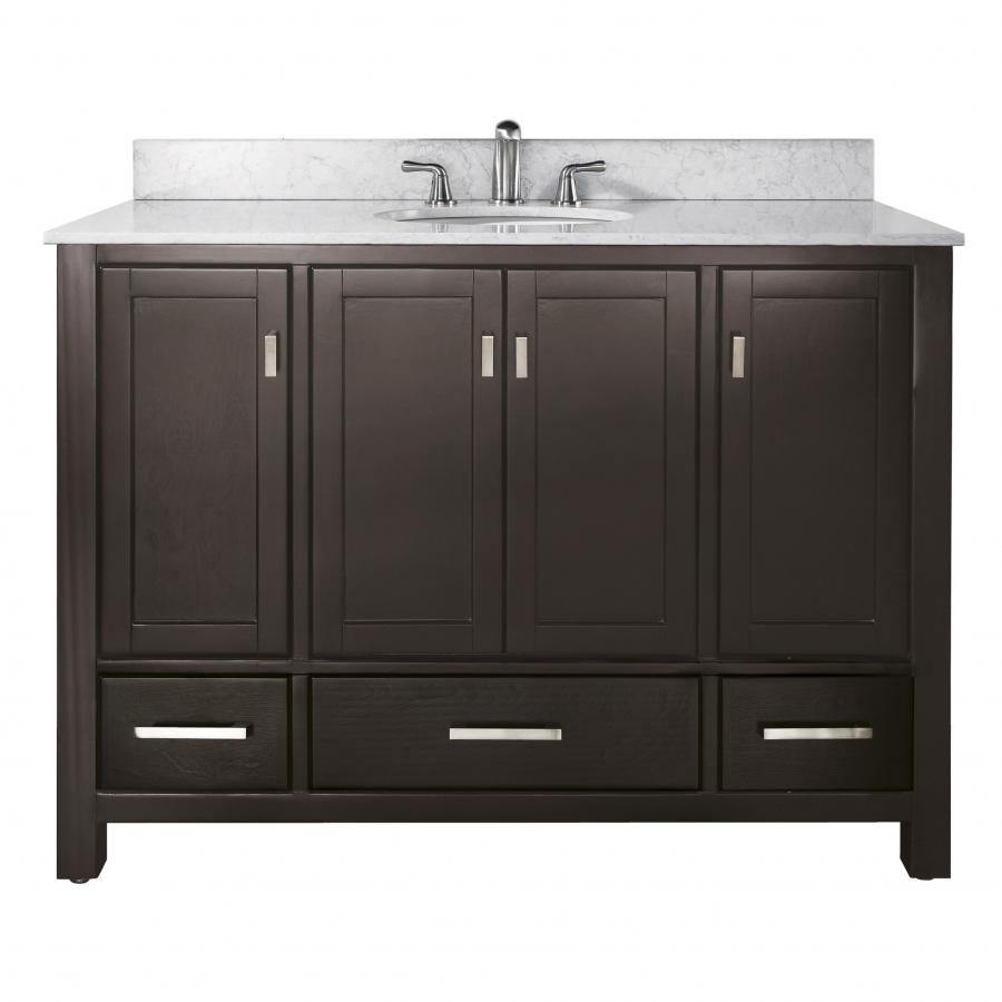 48 Inch Single Sink Bathroom Vanity in Espresso with