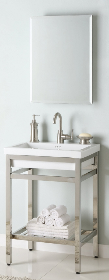 24 Inch Single Sink Console Bathroom Vanity With Choice Of