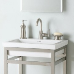 Copper Kitchen Faucets Corner Seating 24 Inch Single Sink Console Bathroom Vanity With Choice Of ...