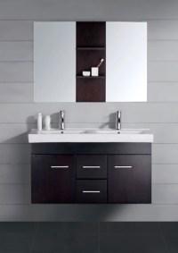 47 Inch Modern Double Sink Bathroom Vanity Espresso with ...