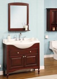 38 Inch Single Sink Narrow Depth Furniture Bathroom Vanity ...