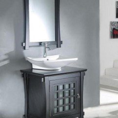 Top Mount Kitchen Sink Basin 30 Inch Modern Vessel Bathroom Vanity In Dark Walnut ...