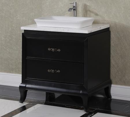 323 Inch Single Sink Bathroom Vanity in Matte Black